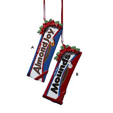 hershey s mounds and almond bar ornaments and city