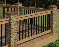 contemporary floating deck with river rock border laying out deck cable railing systems home depot deck designs home depot