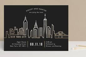 wedding invitations nyc nyc city scape foil pressed wedding invitations by mansi minted