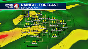 Newark Ohio Map by Tropical Moisture Bringing Risk Of Flooding Across Ohio Nbc4i Com