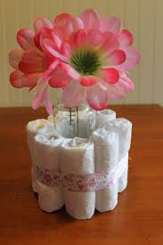 baby shower table centerpieces diy baby shower centerpieces using diapers frugal fanatic
