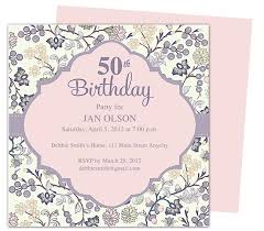 beautiful and elegant 50th birthday party invitations templates