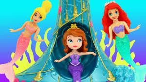 mermaids underwater sea swimming toy disney princess sofia