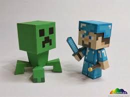 diamond steve minecraft diamond steve papercraft