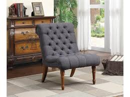 furniture enchanting charcoal grey tufted armless accent chair