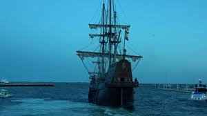 el galeon tall ship leaves provincetown harbor ma cape cod youtube