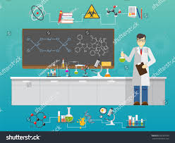 chemical laboratory science technology flat style stock vector