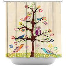 Shower Curtains With Trees Artistic Shower Curtains By Sascalia Owl Bird Tree Ii Unique