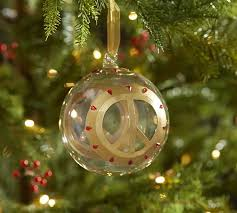 peace sign ornament pottery barn