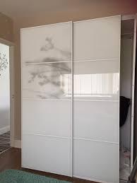 ikea wardrobe cupboard pax white sliding doors only in dinas