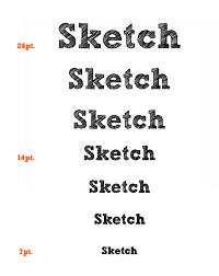 sketch font artill blog