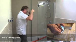 backyards sliding shower doors installation tub bypass