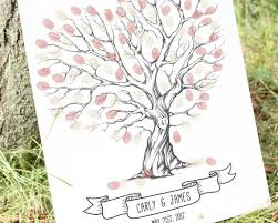 wedding tree wedding tree fingerprint tree thumb print guest book finger