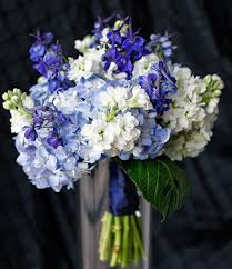 blue wedding bouquets blue wedding flowers bouquet