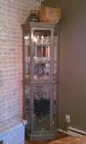 single glass door cabinet alluring corner kitchen console curio cabinet featuring glass