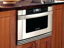 sharp under cabinet microwave sharp cabinet microwave this sharp microwave drawer is built into