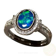 blue opal engagement rings green blue opal ring with diamonds 14k gold flashopal