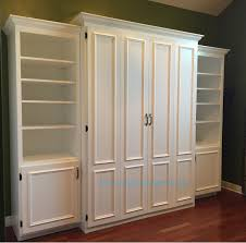 Queen Murphy Bed Plans Free White Painted Mdf Queen Size Murphy Bed Flat Panel Surface