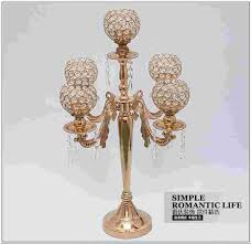 Crystal Candle Sconces Aliexpress Com Buy H65cm Fashion France Gold Candle Holders