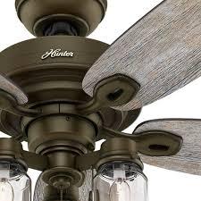Mason Jar Ceiling Fan by 52 In Indoor Bronze Vintage Rustic Farmhouse Mason Jar Ceiling