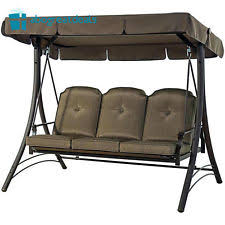 porch outdoor swing 3 person patio canopy bench furniture