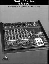 peavey music mixer 1002 8 rq user guide manualsonline com