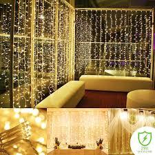 String Lighting For Bedrooms by String Light Curtain Panel Bedroom Indoor Outdoor Mini Lights