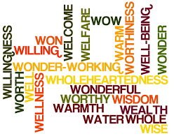 positive words cloud starting with letter w u2013 positive words