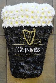 Guinness Flag Pint Of Guinness Tribute Funeral Flowers Pinterest Funeral