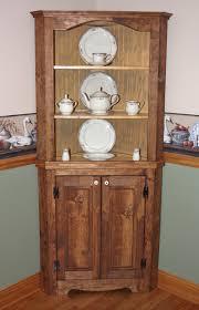 hutch curio corner rustic primitive china cabinet shabby