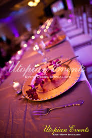 Table Setting Chargers - rent charger plates for special events utopian events