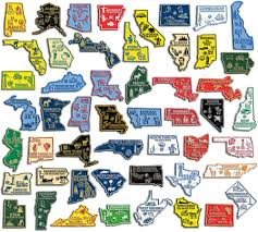 State Series Quarters Collector Map by 50 State Magnet Sets Classic Magnets
