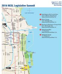 Chicago On A Map by Ncsl Legislative Summit 2016 Chicago