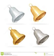 christmas bell set on white background stock images image 34693664