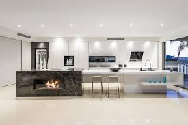 island kitchen bench kitchen island integrated fireplace design enigmainteriors com au