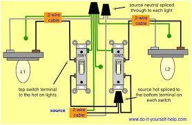 two switches control two lights cabin how to u0027s pinterest