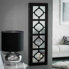 wall mirror jewelry cabinet ideas of wall mounted lighted jewelry armoire on innovation design