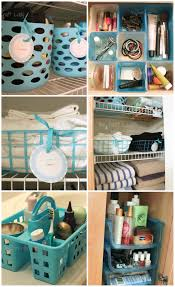 Diy Bathroom Storage by Dollar Store Bathroom Organizing The Crazy Craft Lady
