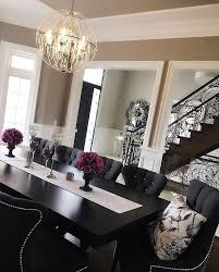 Black Dining Room Furniture Decorating Ideas Monochromatic Grey Scale Black And White Dining Room Furniture