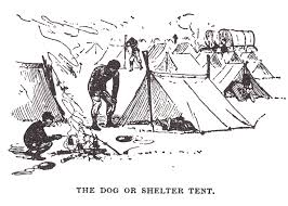 the shelter tent was the standard issue tent for union soldiers in