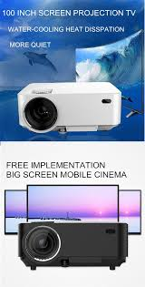 home theater cooling t20 portable led 1200 lumens projector support 1080p home theater