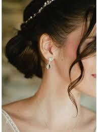 boucle d oreille mariage boucles d oreilles mariée au charme rétro et chic so hélo