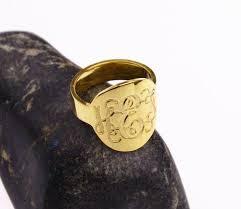 Gold Monogram Ring Monogram Ring U2013 Nanvo Com