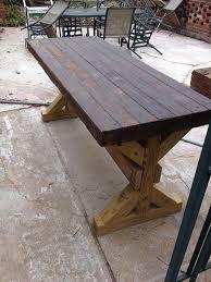Concrete Patio Table Brown Wood Concrete Patio Table