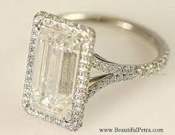 5 engagement ring certified 5 carat emerald cut engagement ring