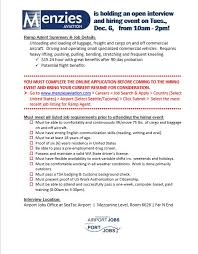 Resume For Airport Jobs by Job Opportunities 11 29 16
