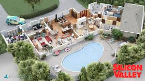 3d model floor plan your favourite tv show sets as 3d models