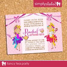 fancy invitations fancy tea party custom kids birthday party invitation invite by