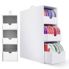 3 Drawer Desk Organizer by 3 Drawer Ribbon Organizer Store And Organize Up To 60 Spools Of