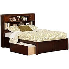 amazon com newport bookcase bed with flat panel foot board and 2